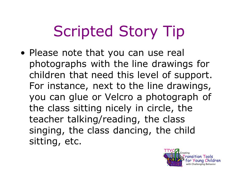 Scripted Story Tip