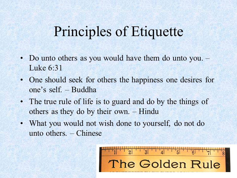 Principles of Etiquette