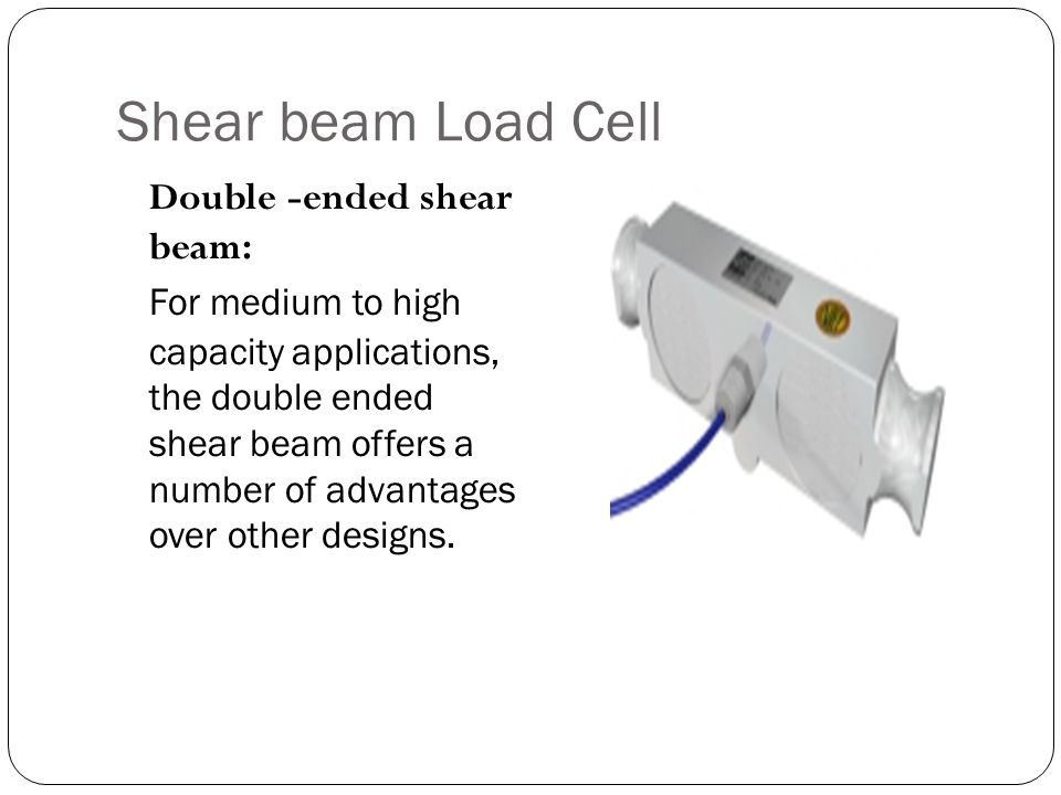 Shear beam Load Cell Double -ended shear beam: