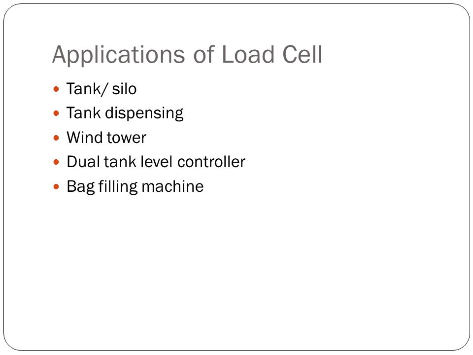 Applications of Load Cell