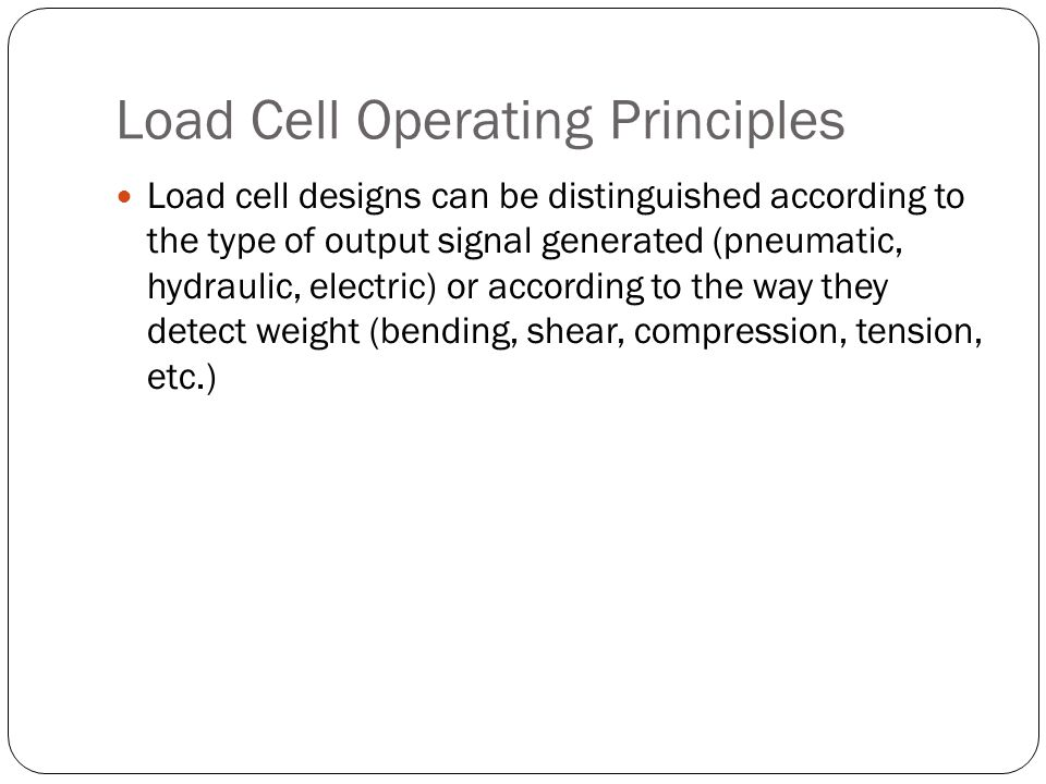 Load Cell Operating Principles