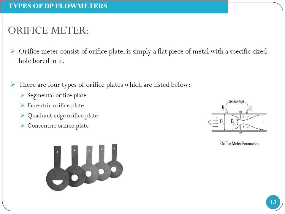 Differnetial pressure flowmeters ppt video online download