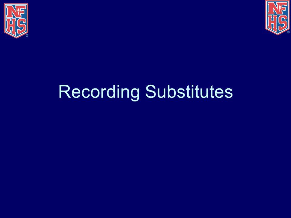 Recording Substitutes