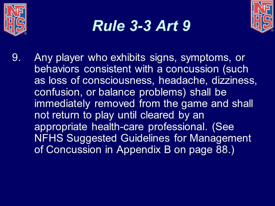 Rule 3-3 Art 9