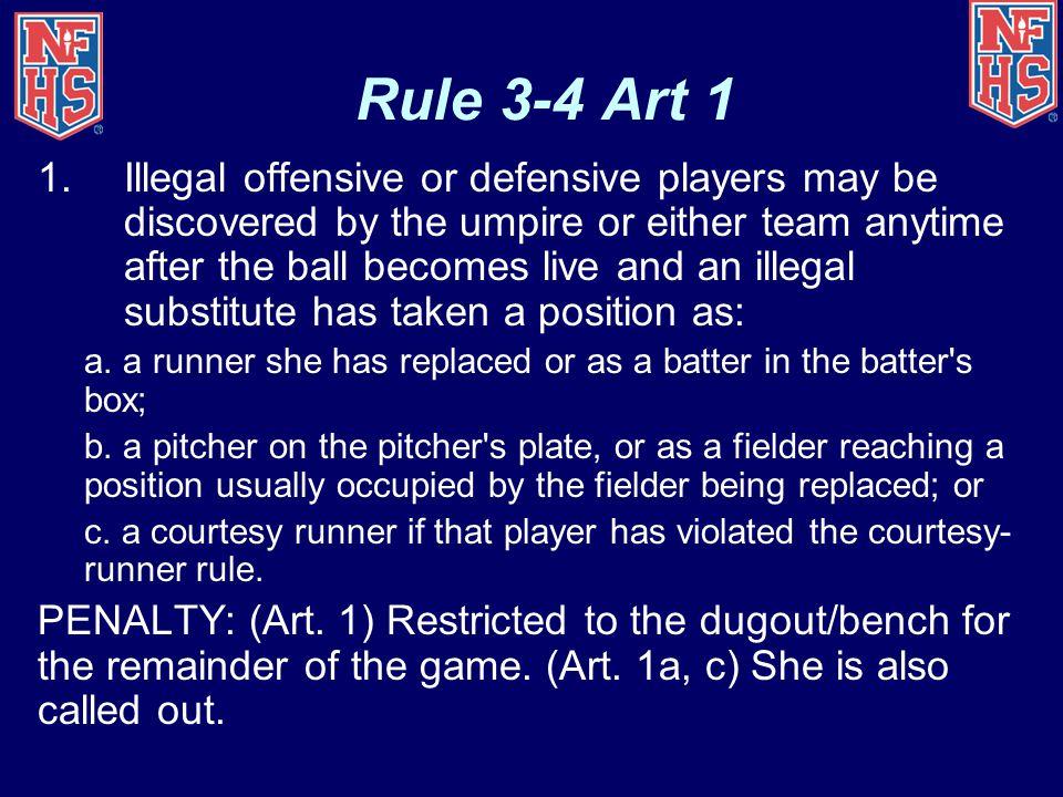 Rule 3-4 Art 1