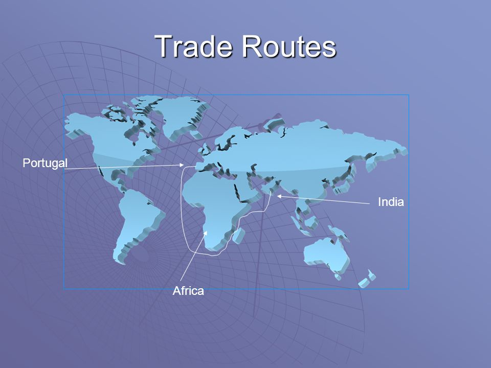 Trade Routes Portugal India Africa