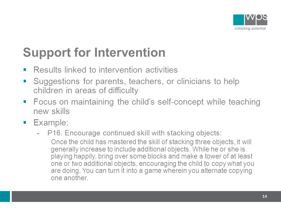 Support for Intervention