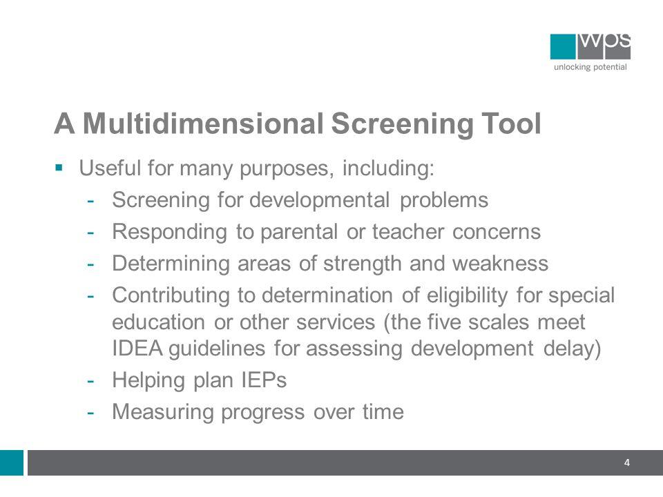 A Multidimensional Screening Tool