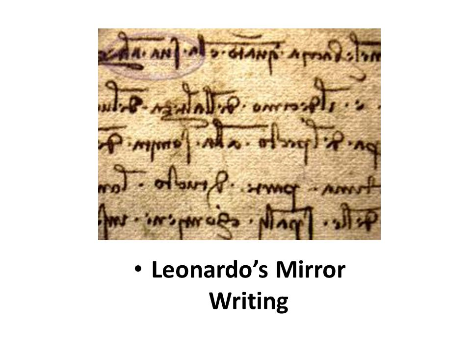 Leonardo's Mirror Writing