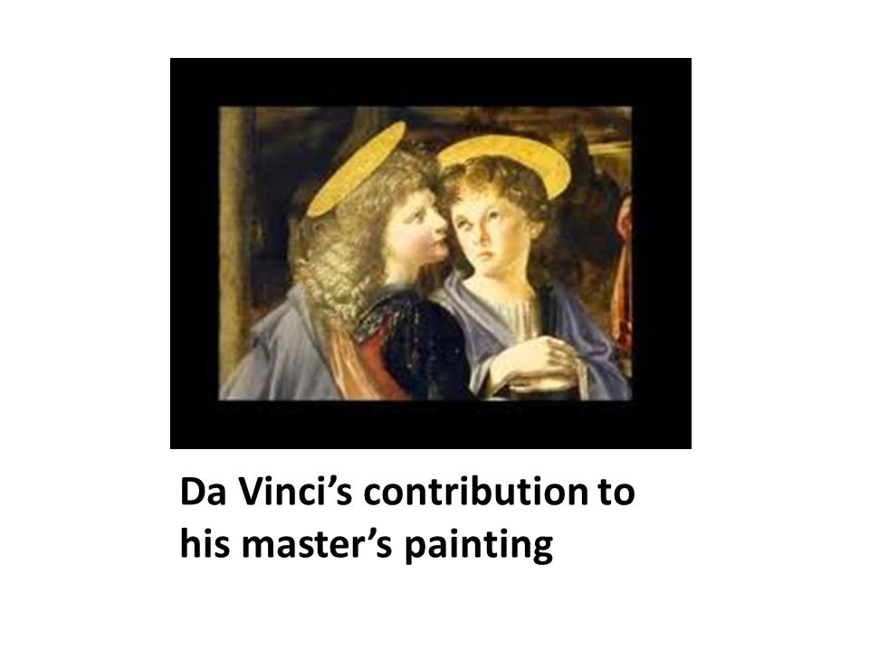 Da Vinci's contribution to his master's painting