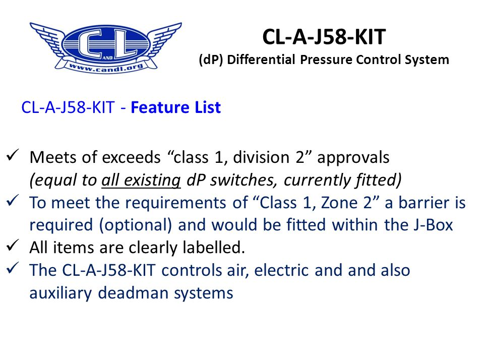 CL-A-J58-KIT (dP) Differential Pressure Control System
