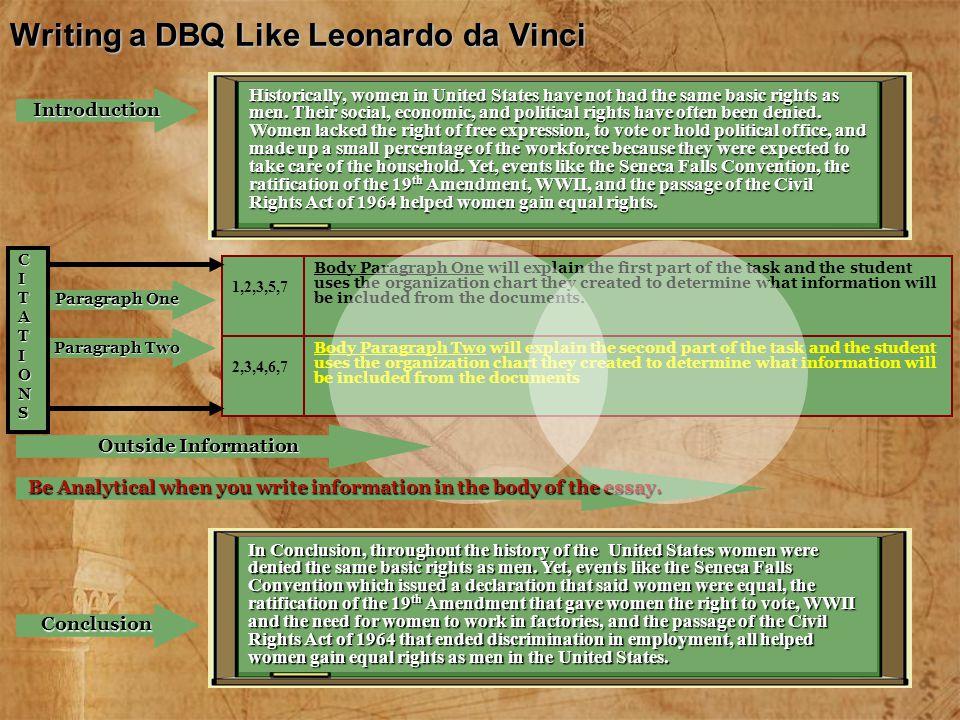 Writing a DBQ Like Leonardo da Vinci