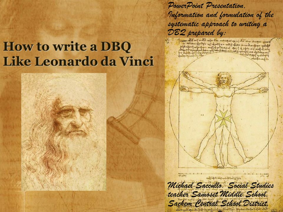 How to write a DBQ Like Leonardo da Vinci