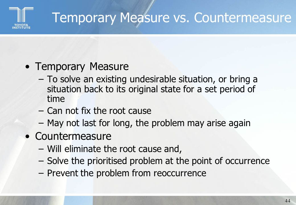 countermeasures problem solving seminare