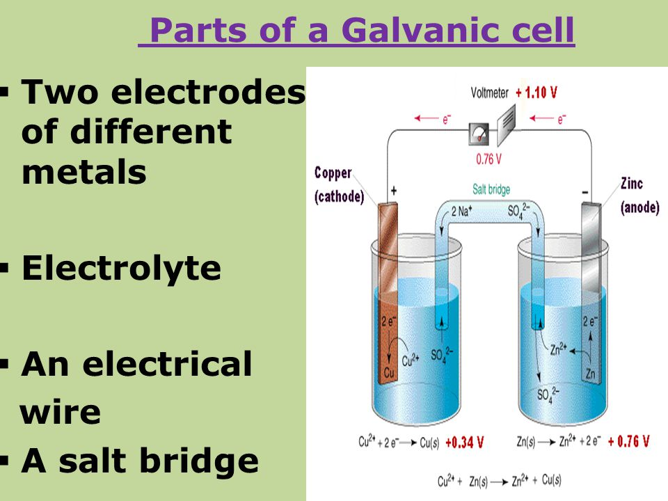 Parts of a Galvanic cell