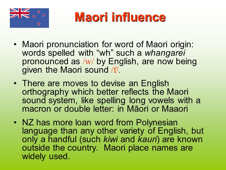 Maori influence