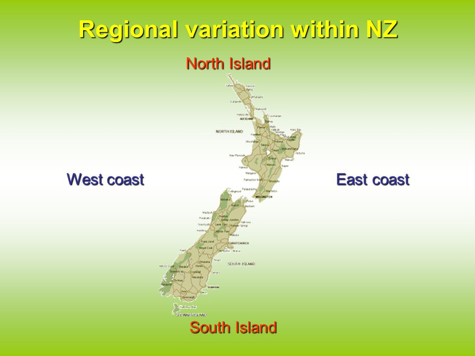 Regional variation within NZ