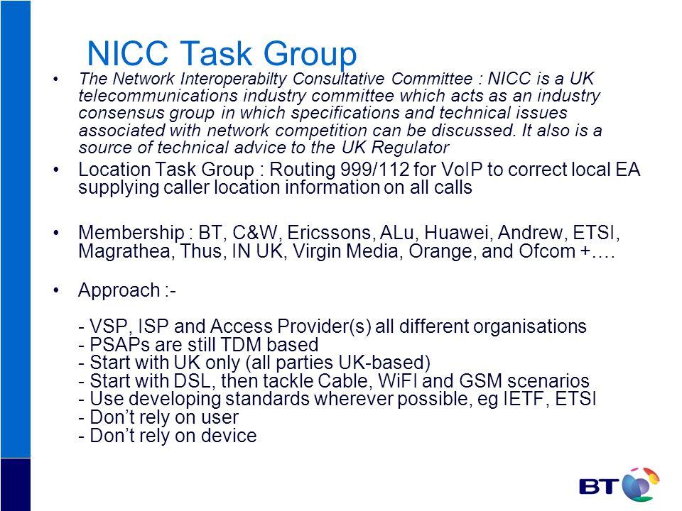 NICC Task Group