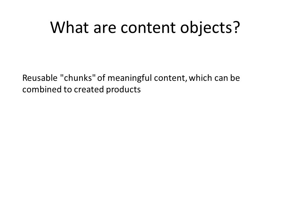 What are content objects