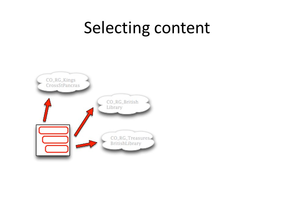 Selecting content