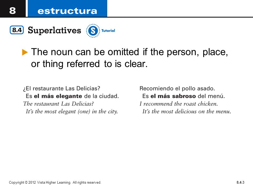 The noun can be omitted if the person, place, or thing referred to is clear.