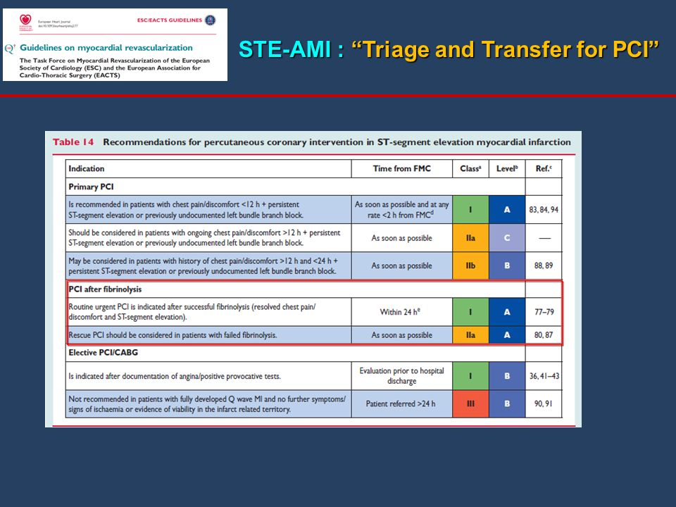 STE-AMI : Triage and Transfer for PCI