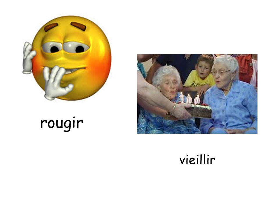 rougir vieillir