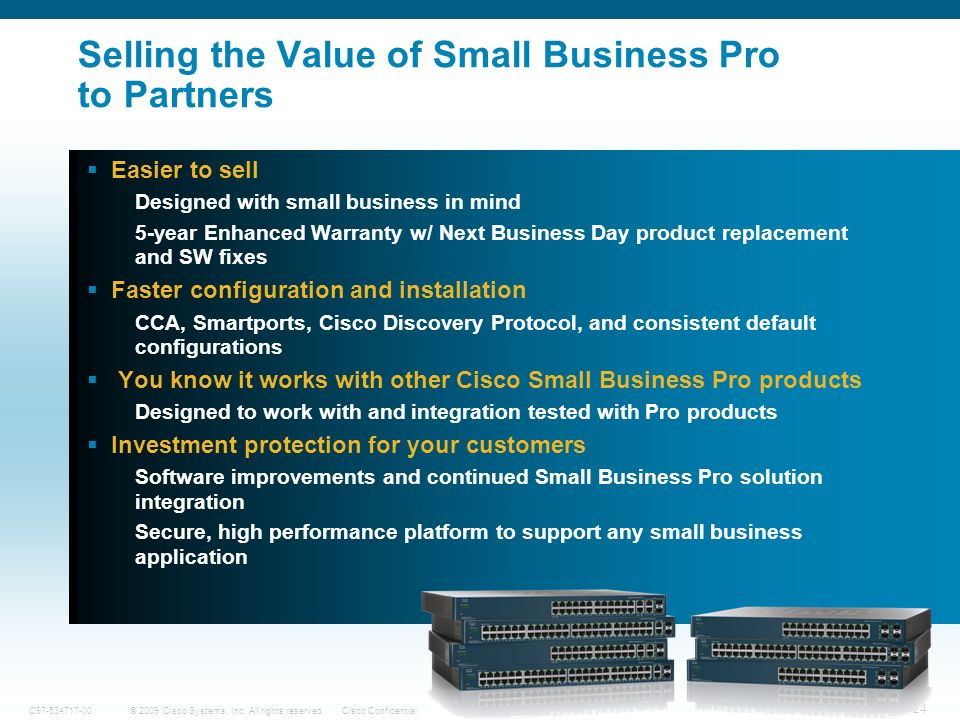 Selling the Value of Small Business Pro to Partners
