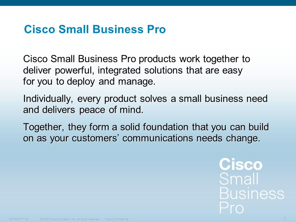 Cisco Small Business Pro