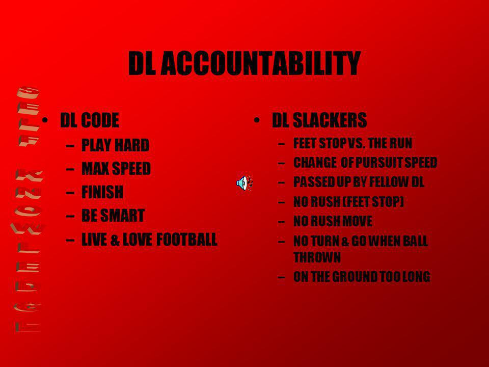 DL ACCOUNTABILITY SELF KNOWLEDGE DL CODE DL SLACKERS PLAY HARD