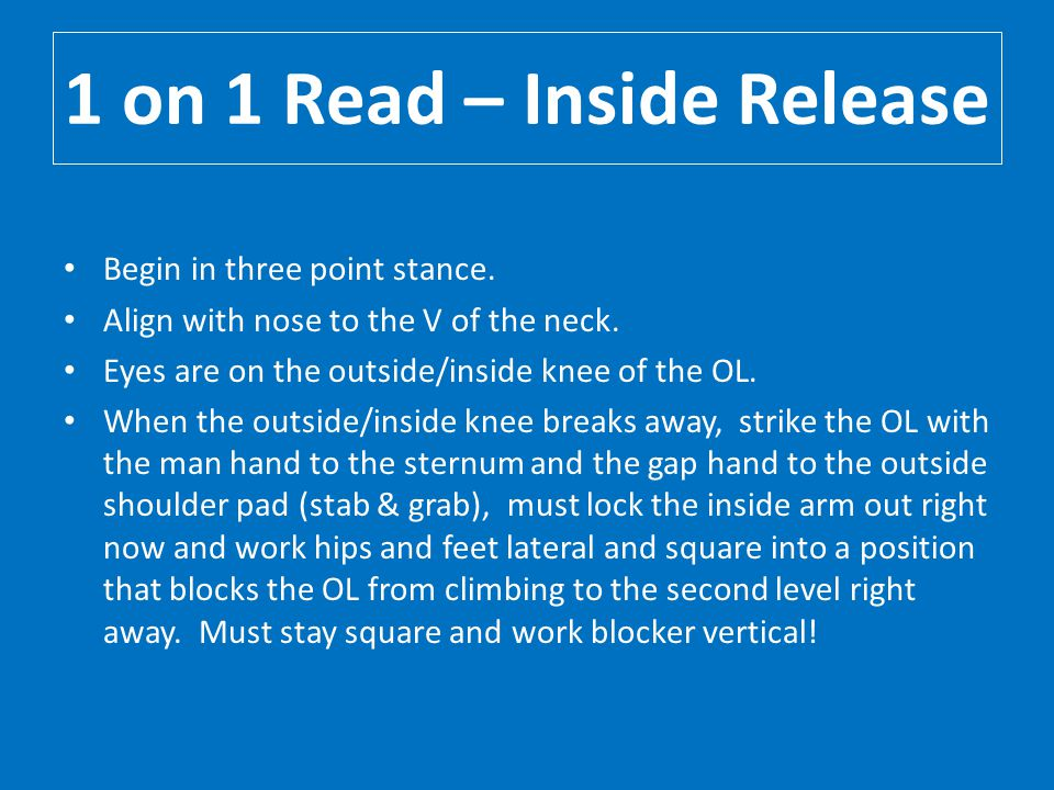 1 on 1 Read – Inside Release