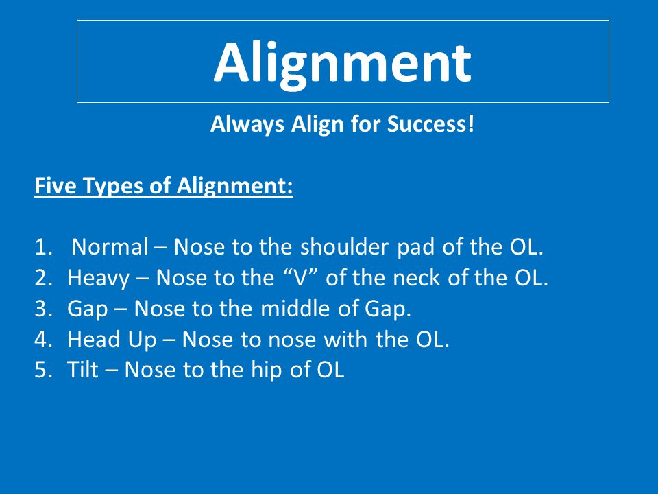 Always Align for Success!