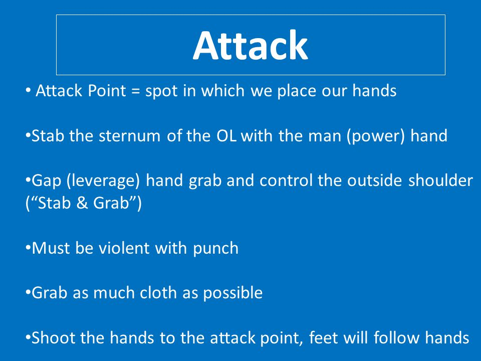 Attack Attack Point = spot in which we place our hands