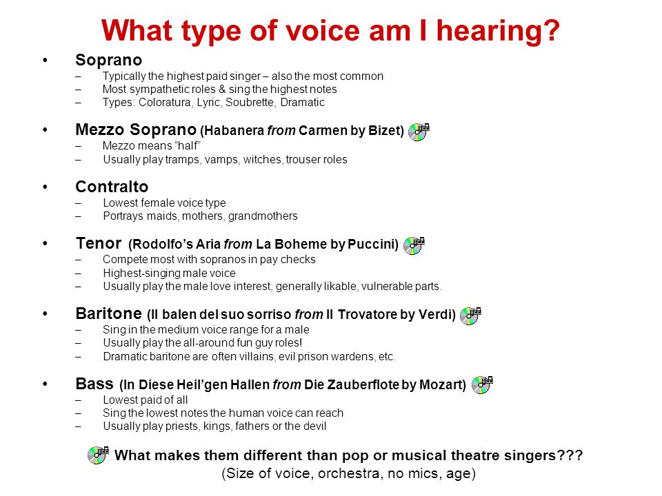 What type of voice am I hearing
