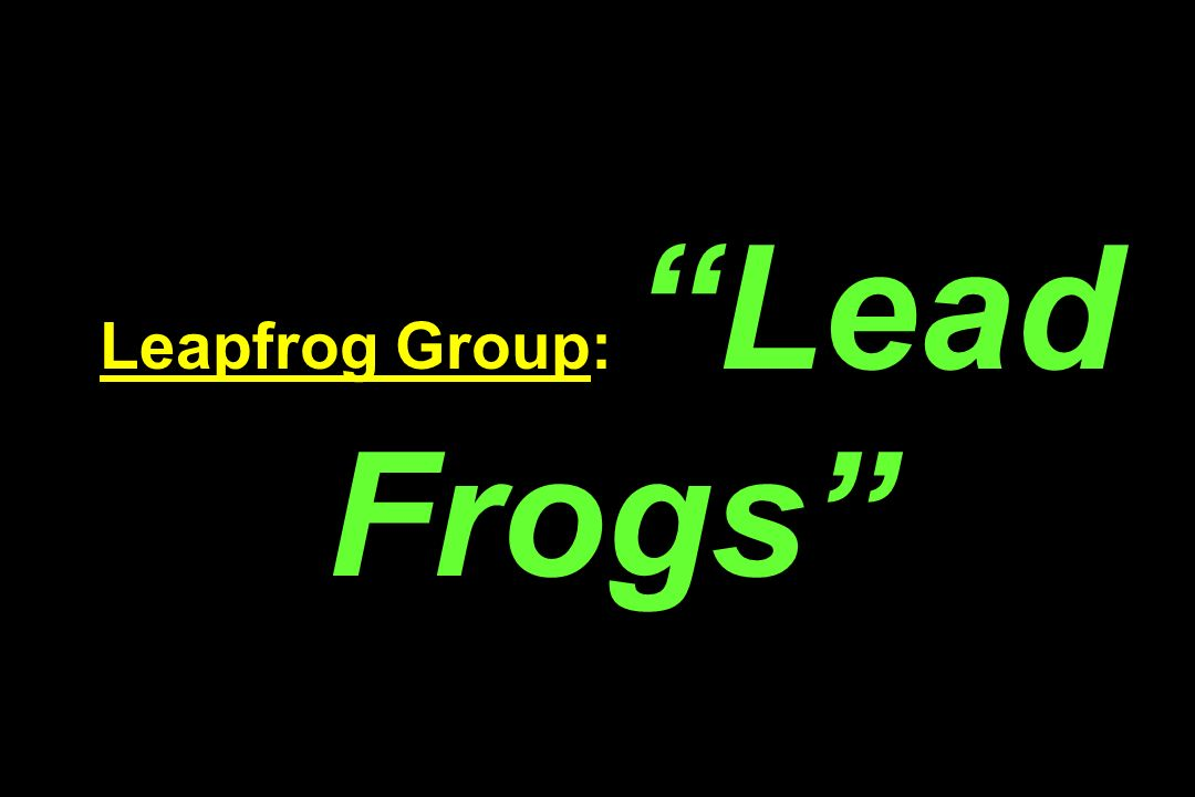 Leapfrog Group: Lead Frogs