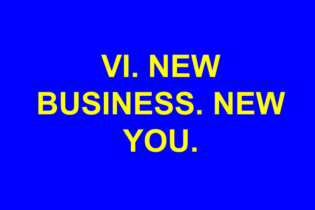 VI. NEW BUSINESS. NEW YOU.