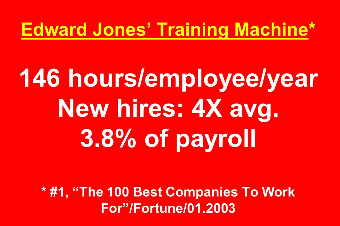 Edward Jones' Training Machine