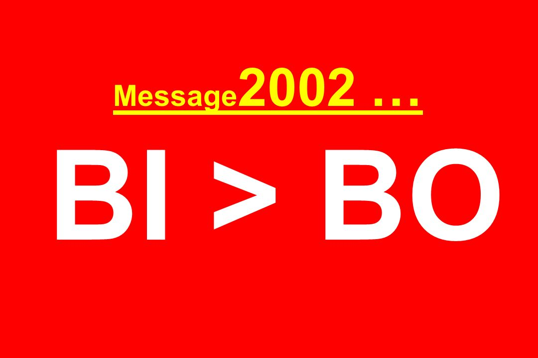Message2002 … BI > BO