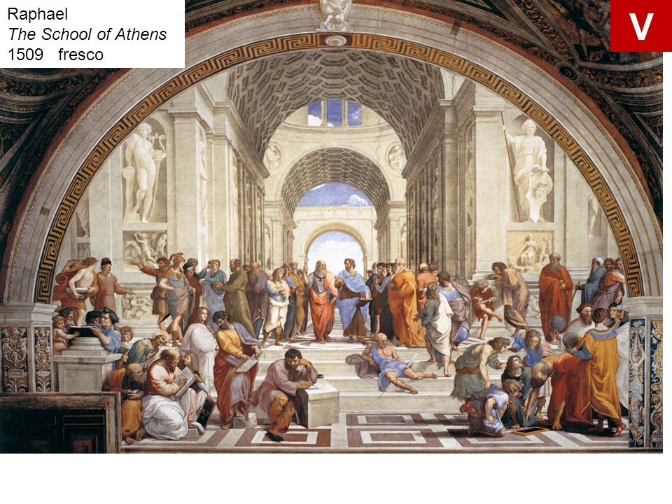 V Raphael The School of Athens 1509 fresco Raphael