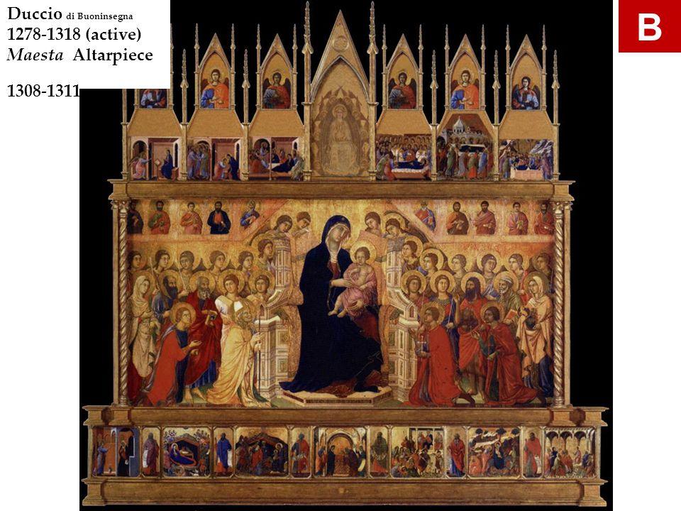B gdfgd Duccio di Buoninsegna 1278-1318 (active) Maesta Altarpiece