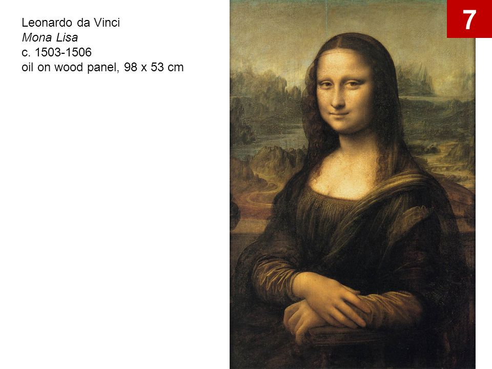 7 Leonardo da Vinci Mona Lisa