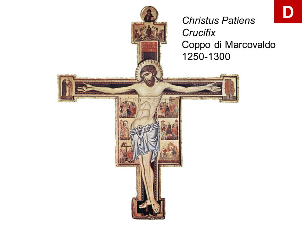 D Christus Patiens Crucifix Coppo di Marcovaldo 1250-1300