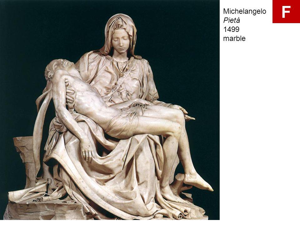 F Michelangelo Pietà 1499 marble