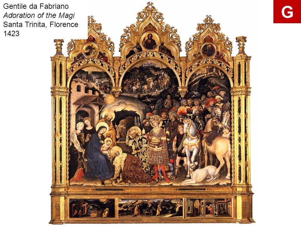 Gentile da Fabriano Adoration of the Magi Santa Trinita, Florence 1423
