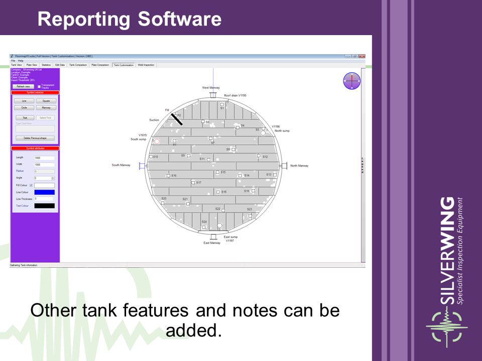 Other tank features and notes can be added.