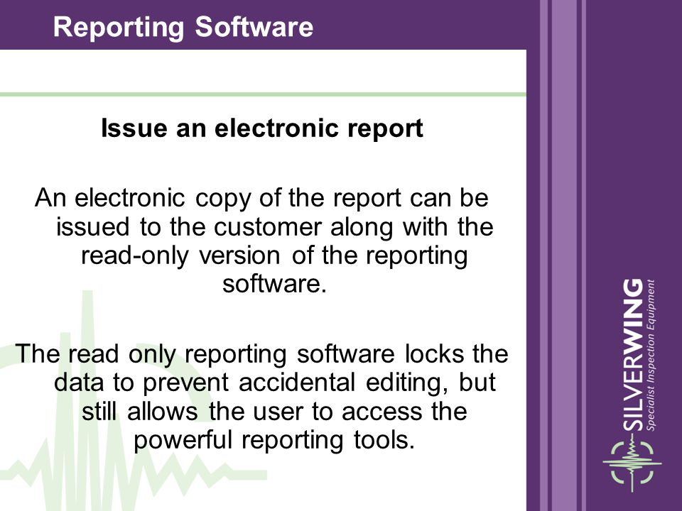 Issue an electronic report