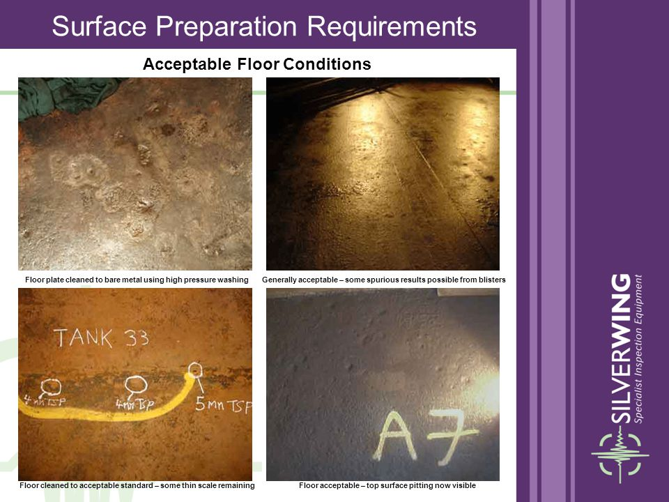 Acceptable Floor Conditions