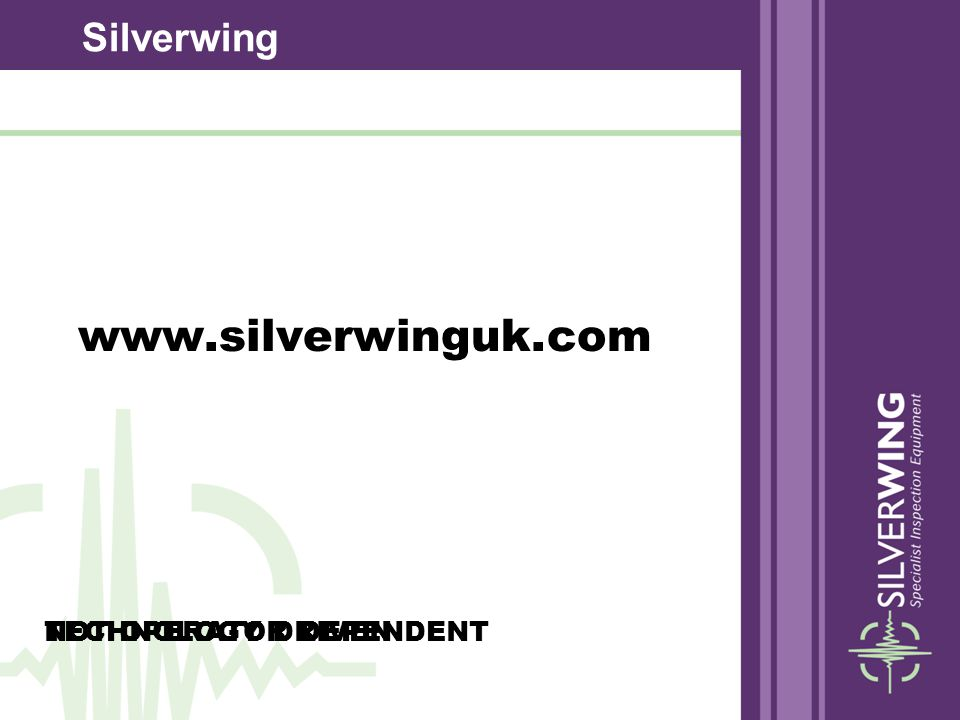 www.silverwinguk.com Silverwing NOT OPERATOR DEPENDENT
