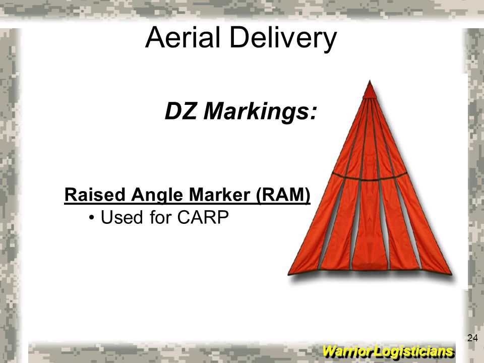 DZ Markings: Raised Angle Marker (RAM) Used for CARP