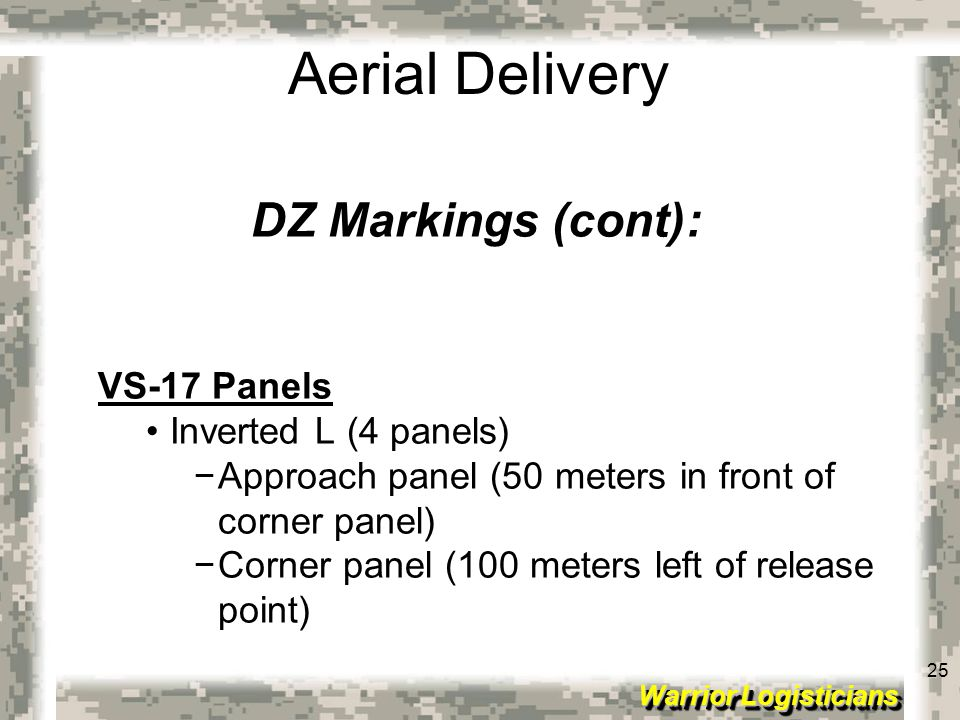 DZ Markings (cont): VS-17 Panels Inverted L (4 panels)